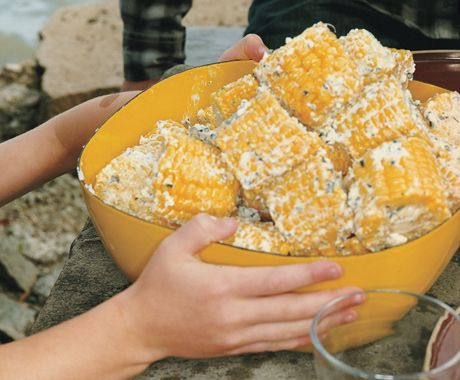 corn with mint feta butter made it yum corn on the cob with mint feta ...