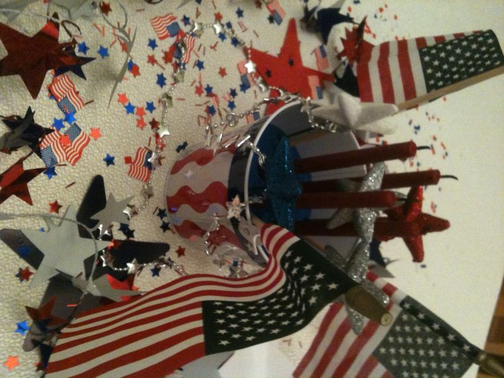 cheap 4th of july table decorations