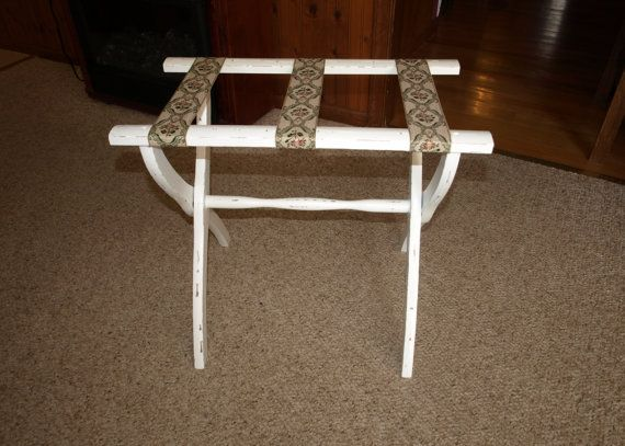 vintage luggage rack for the guest bedroom etsy