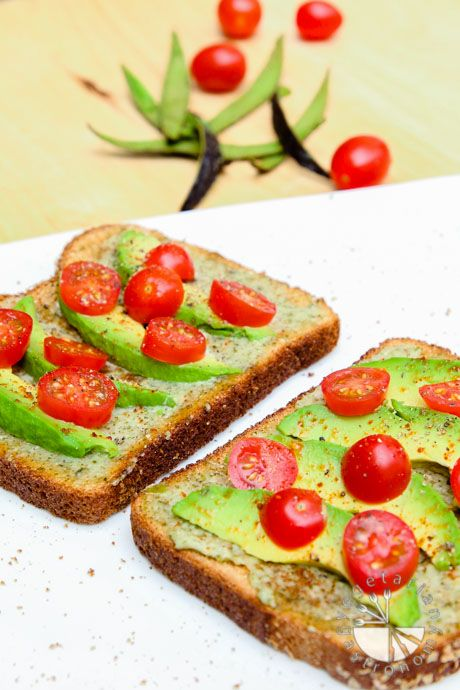 Avocado, Cherry Tomato Toast (vegan, gluten-free option) | Recipe