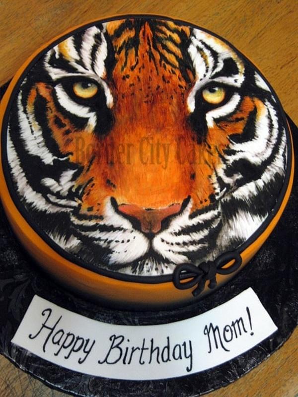 Tiger Face Cake cakes ideas :) Pinterest