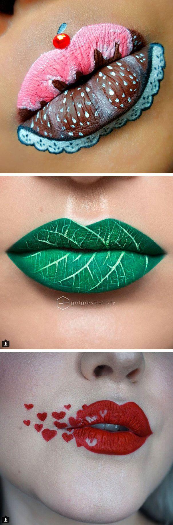 Макияж губы фото с рисунками
