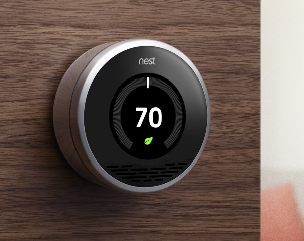 Pin by jonathan fortunati on interfaces ui gui pinterest - Nest thermostat stylish home temperature control ...