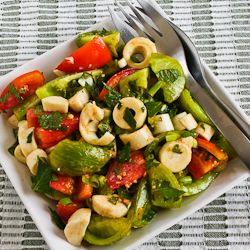 Colorful Tomato Salad with Hearts of Palm, Mint, and Spicy Thai Dress ...