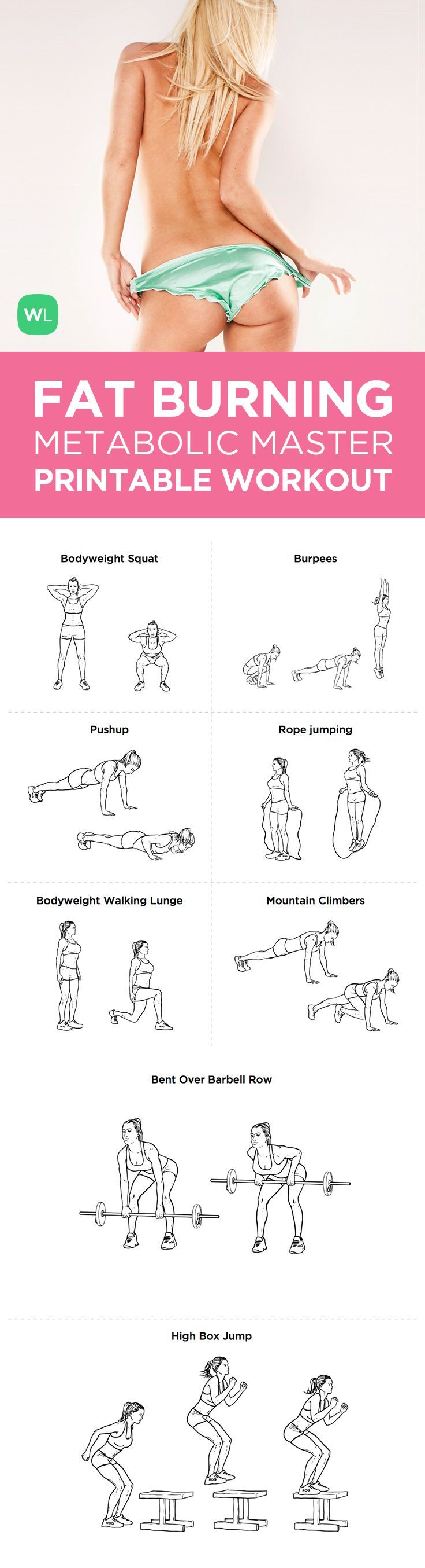 Fat Burning Workout | Fitness | Pinterest