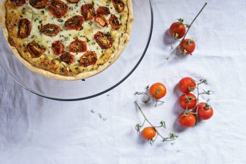 herbed tomato + ricotta tart--an oldie but a goodie