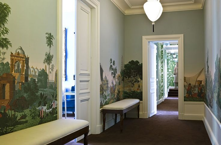 Entrance hall by Zuber via Pinterest