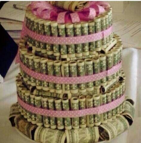 Money cake party ideas for all ages pinterest - Money cake decorations ...