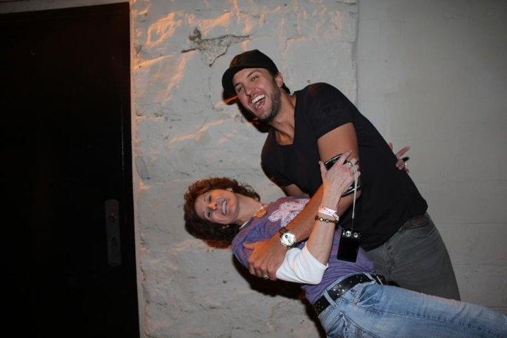 Luke Bryan &98.5 KVOO's Kelley Cash