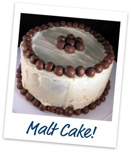 triple chocolate malt cake | Malted Milk (ball) Recipes | Pinterest