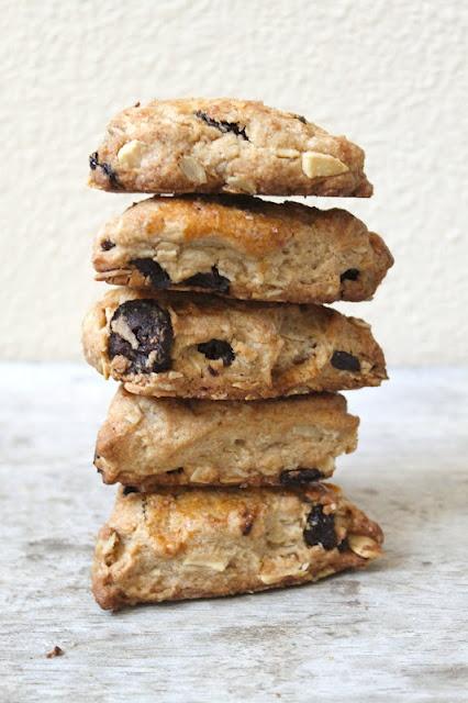 Tart Cherry and Toasted Almond Scones | delightful | Pinterest