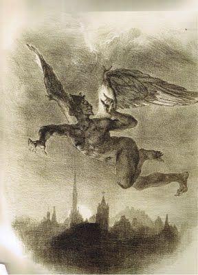 Eugène Delacroix, Mephistopheles in Flight | 1828