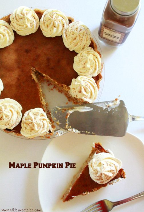 Maple Pumpkin Pie | Food and yummy things | Pinterest