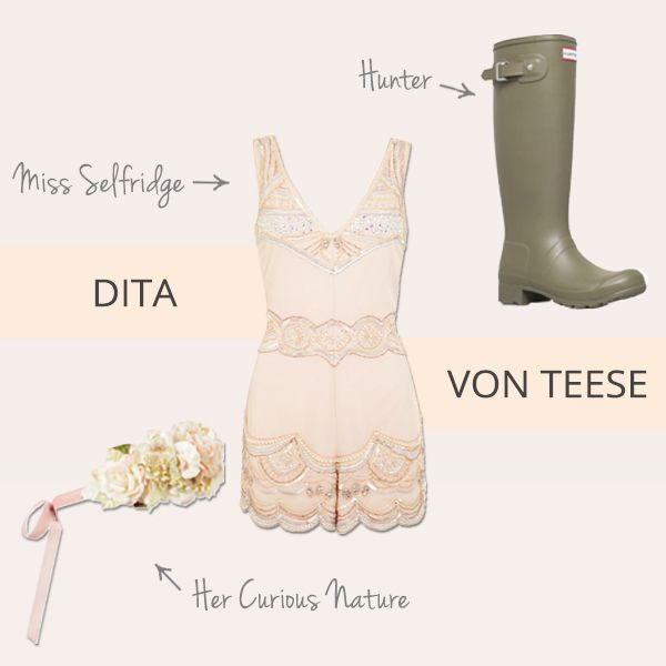 Rocking out this summer and need some outfit inspiration? Grab some festival style ideas from Dita Von Teese...