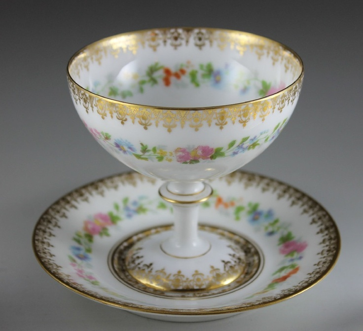 ... , Limoges Porcelian (France) - Punch Cup and Under Plate (1066x973
