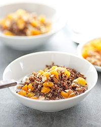 Quinoa Porridge with Toasted Almonds and Apricots Recipe on Food ...