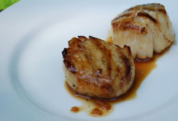 Grilled Marinated Scallops With Ginger And Sesame Recipe — Dishmaps