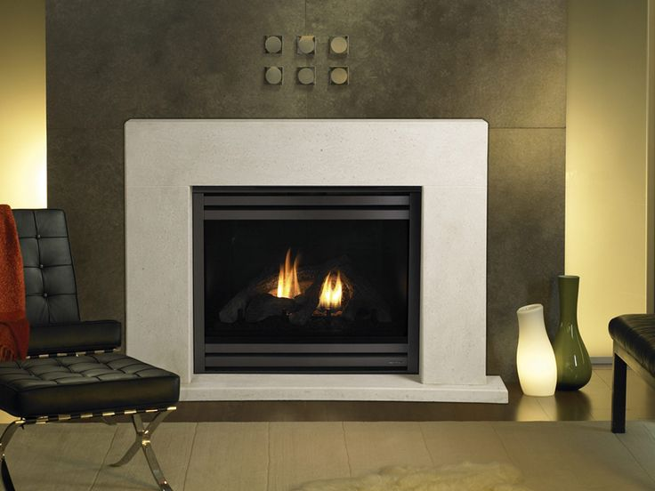 Gas Fireplace Simple Surround Fireplace Pinterest