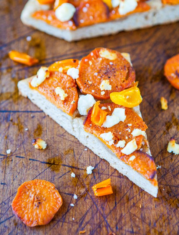 Averie Cooks » Roasted Sweet Potato and Goat Cheese Pizza