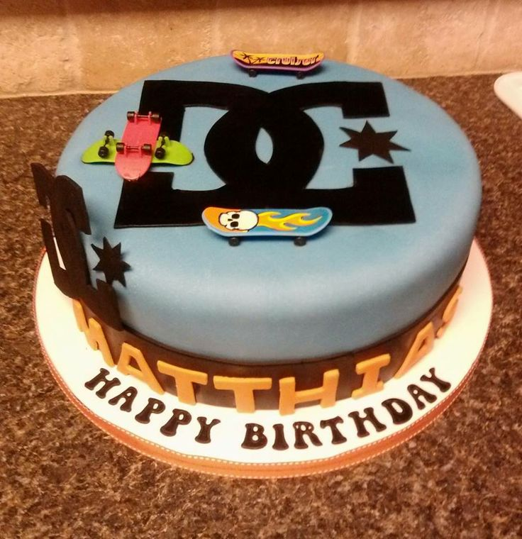 coolest skateboard birthday cakes