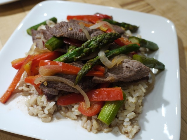 Beef and Asparagus Stir Fry | Where's the Beef | Pinterest