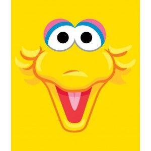 Big Bird Face for design | Birthday Party | Elmo + Sesame ...