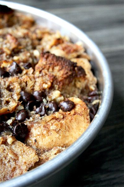 Banana Bread Pudding with Salted Bourbon Caramel Sauce | gotta get ...