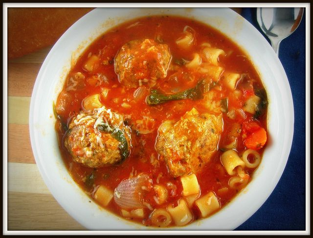 Italian Meatball Soup - Kitchen Meets Girl