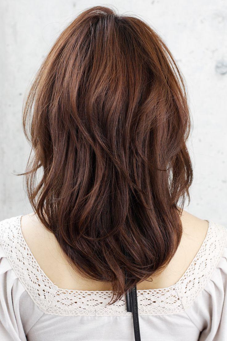 Medium layered hair ba...