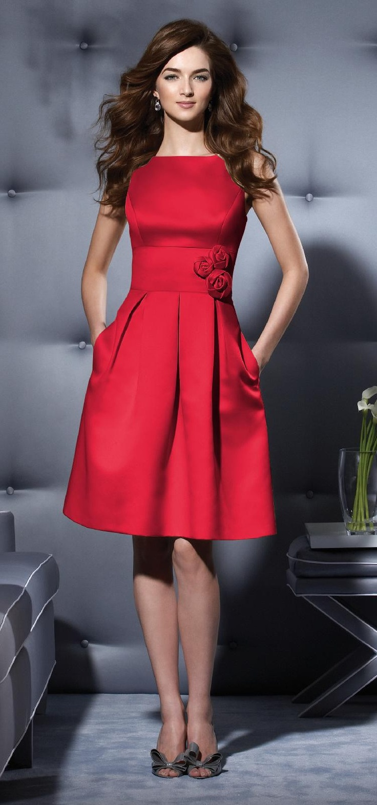 Cute Christmas party dress!  594 - Flame