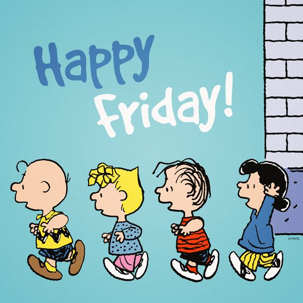 Happy Friday from the Peanuts Gang.