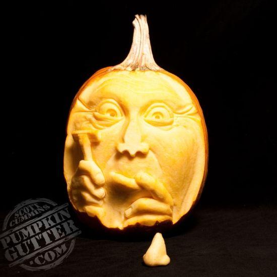 shaving pumpkin carving halloween pumpkin scultping