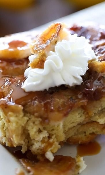 Overnight Bananas Foster French Toast - must try for #carbnite