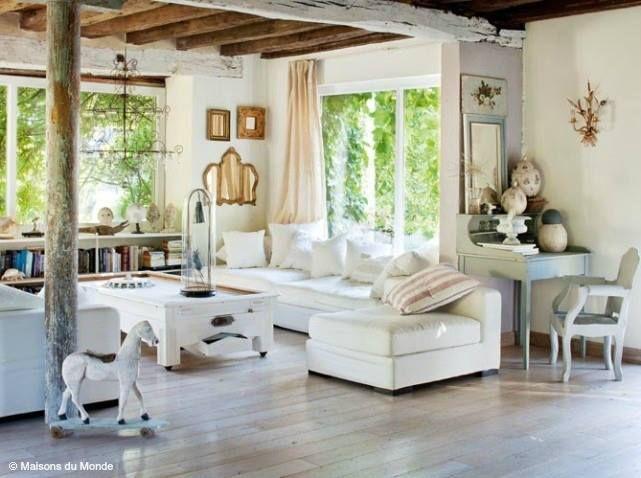 Campagne Décoration  maison de blanc  Pinterest