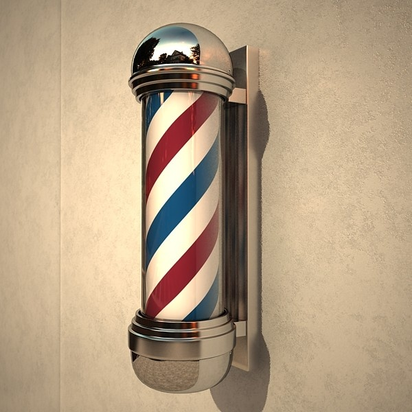 barber pole...and only the boys in the family went to the barber