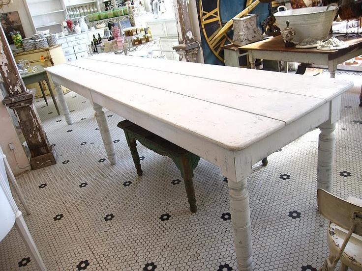 white farmhouse table Farm Tables