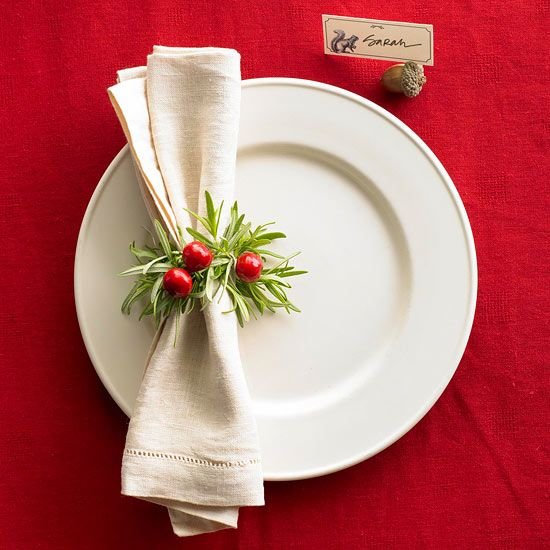 Easy holiday place setting ideas Christmas place setting ideas