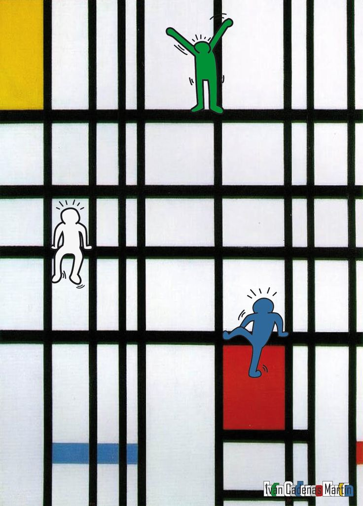 Keith Haring + Piet Mondrian: I love the idea of combining two different artists.