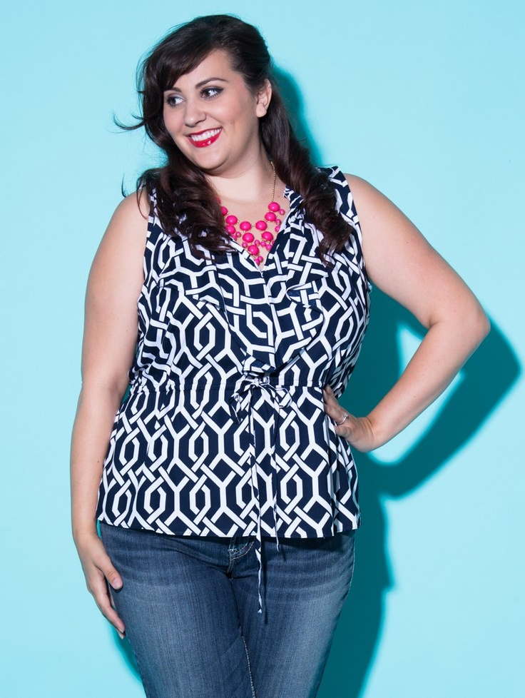 The plus size Jennifer Top. The plus size Jennifer Top! 100% high quality woven rayon tops mean they will look crisp, drape well and keep you COOL!... and all exclusively in plus sizes at lucyclothing.ca !