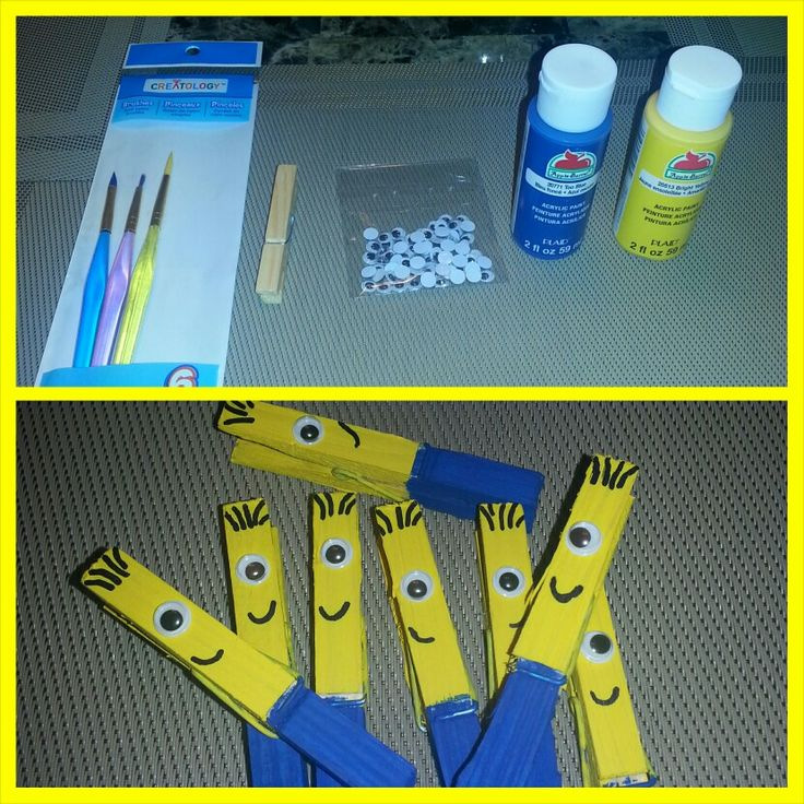 Minion clothes pins completed projects pinterest for Minion clothespins