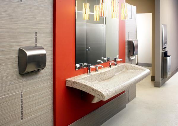 Bathroom office building ideas pinterest for Office building bathroom design