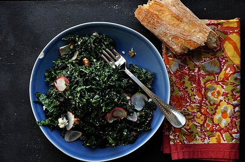 Make per Angie: Kale Salad with Cherries and Pecans - A Life Well ...