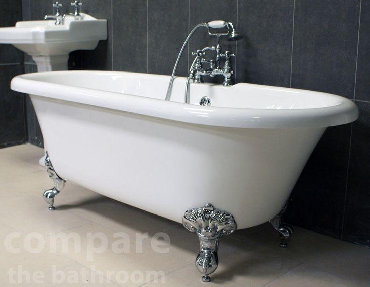 Freestanding Bath With Ball Amp Claw Feet Roll Top Bath