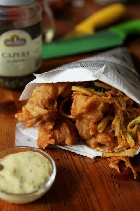 Beer Battered Dory and Garlic Truffle Fries