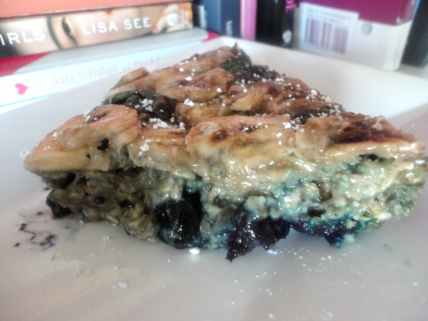 Overnight Baked Blueberry Oatmeal Cake | Yummies :) | Pinterest