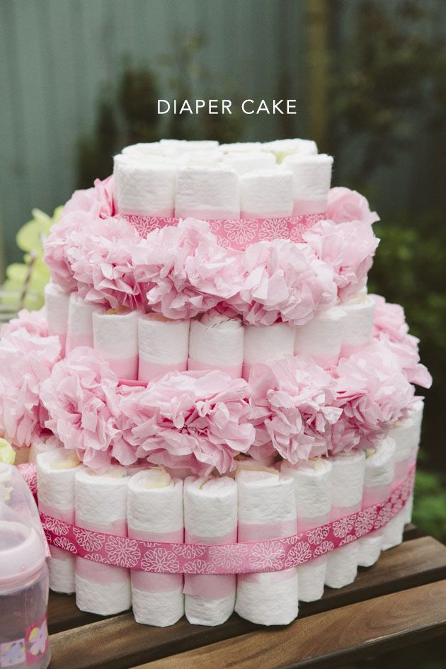 pink and yellow baby shower table diy projects pinterest