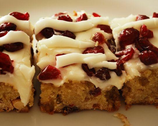 Cranberry Bliss Bars | Favorite Recipes | Pinterest