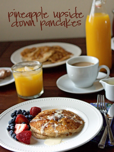 Pineapple pancakes | Breakfast & Brunch | Pinterest