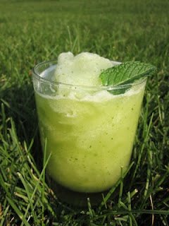Cucumber Mint Cooler (but use stevia and you have super low cals)