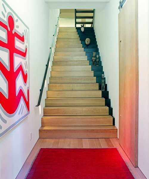 Staircase painting ideas transforming boring wooden stairs - Painted stairs ideas pictures ...